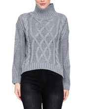 Load image into Gallery viewer, GREY HIGH NECK SWEATER