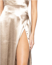 Load image into Gallery viewer, GOLD SATIN MAXI