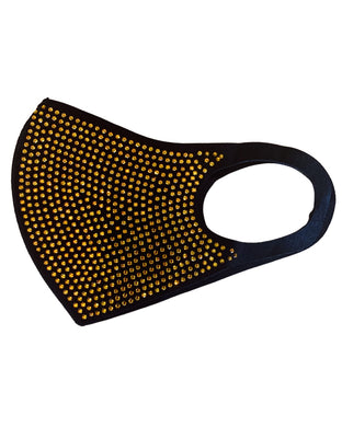 BLACK / GOLD FACE MASK