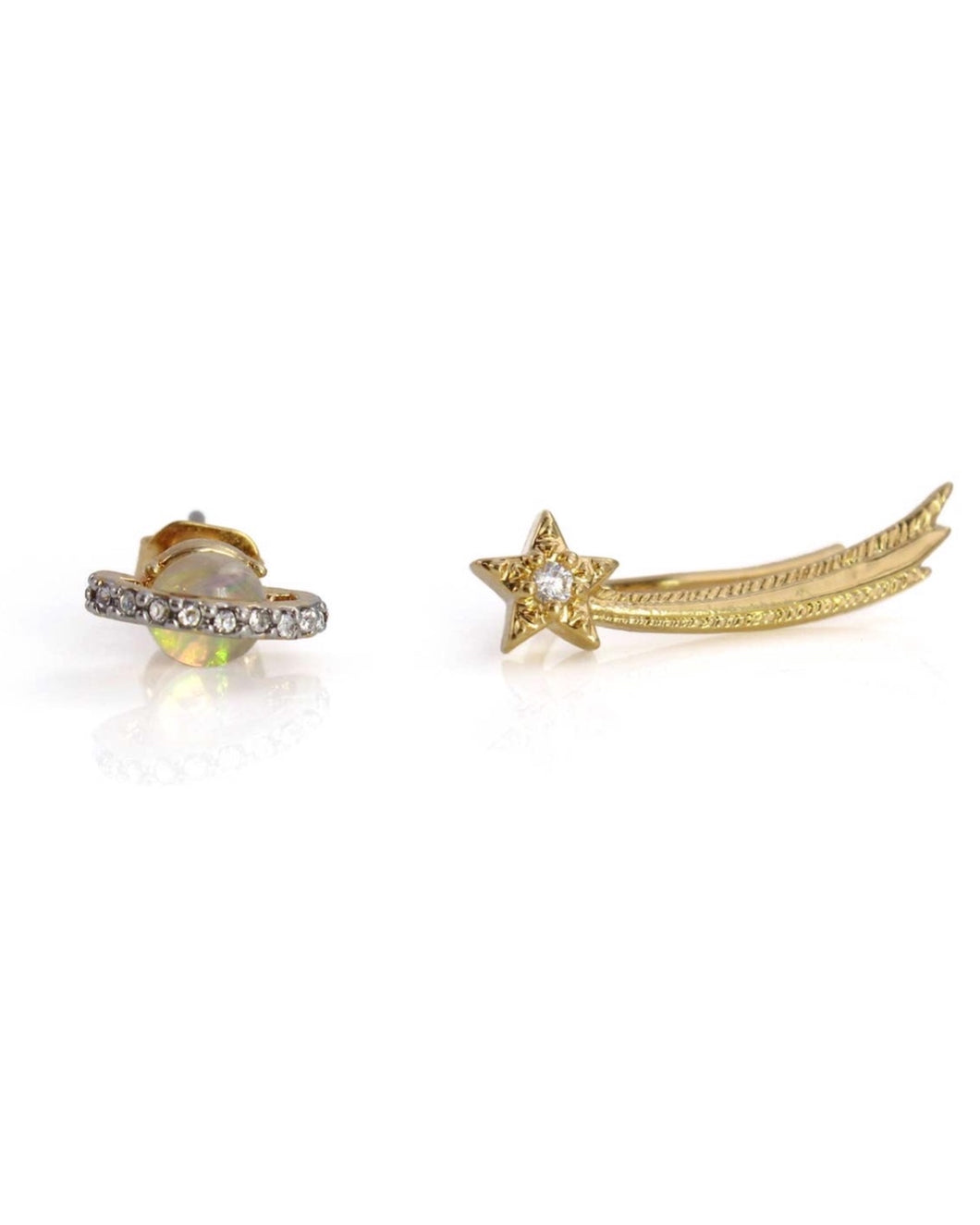 PLANET + SHOOTING STAR EARRINGS