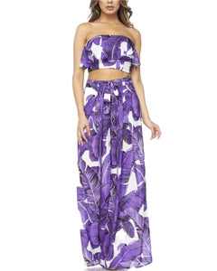 PURPLE PALM PANT