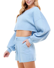 Load image into Gallery viewer, BLUE RELAXED PULLOVER