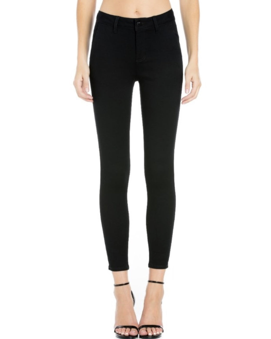 BLACK HIGH RISE ANKLE SKINNY
