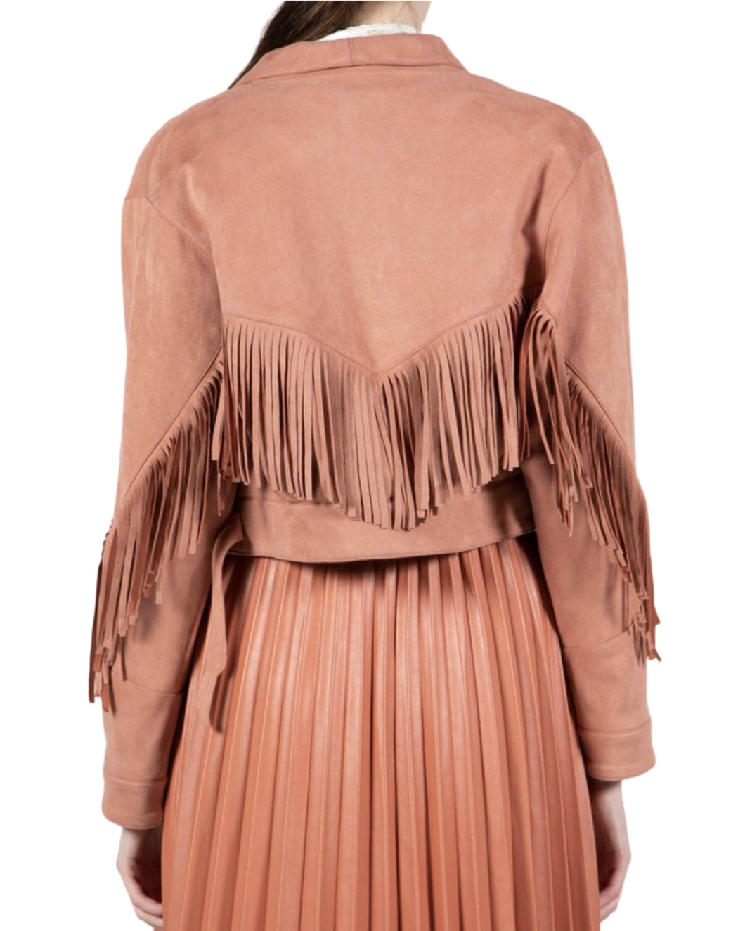 SANDY ROSE FRINGE JACKET