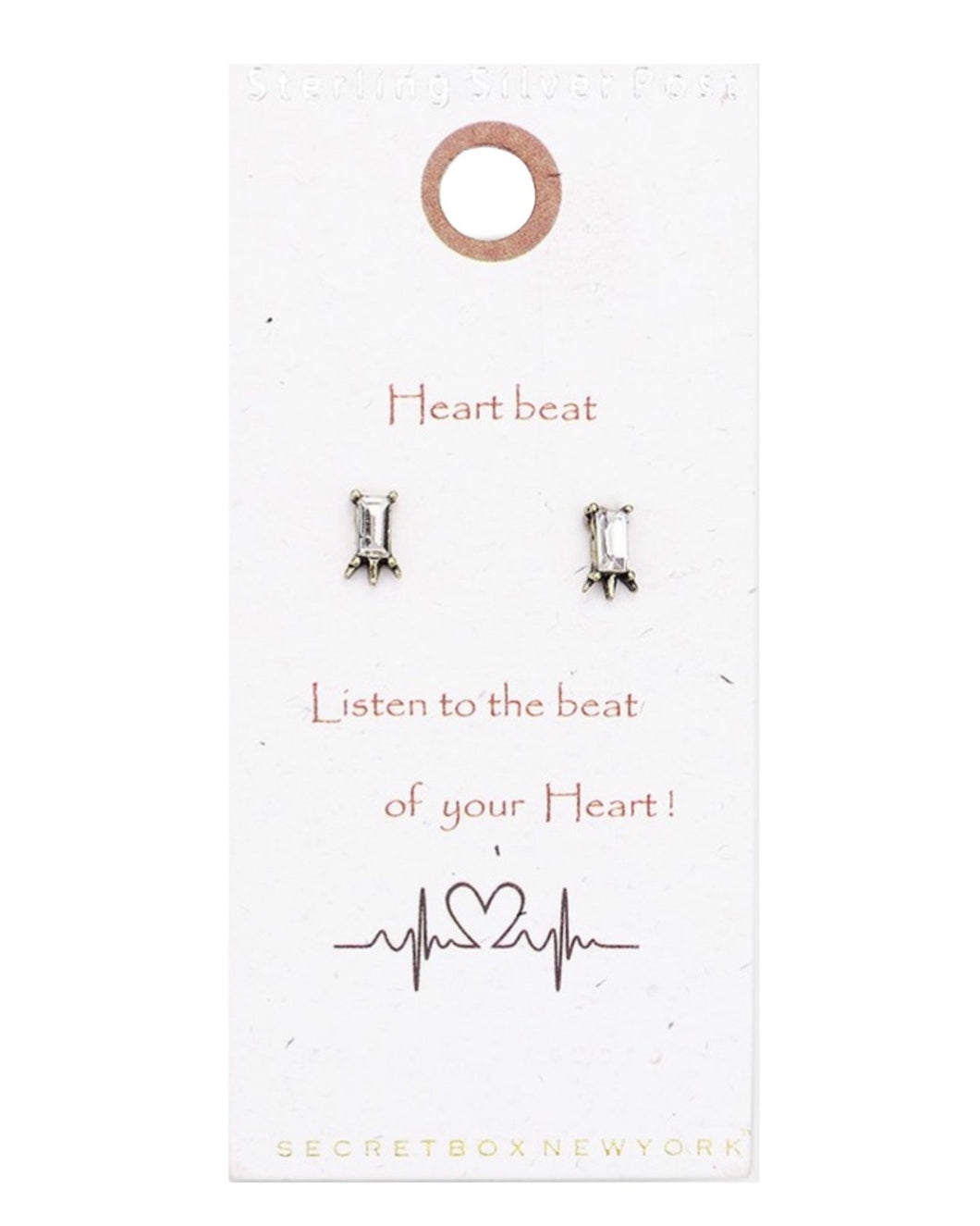 HEARTBEAT STUD EARRINGS