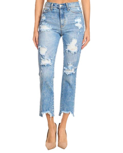 HIGH RISE MOM JEAN LIGHT