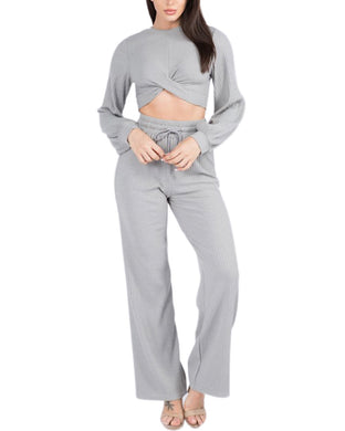 HEATHER GREY DRAWSTRING PANT