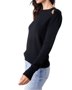BLACK KEY HOLE SWEATER