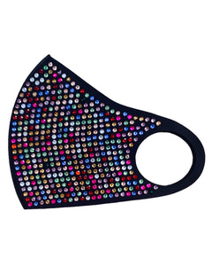 BLACK / RAINBOW SPRINKLE MASK
