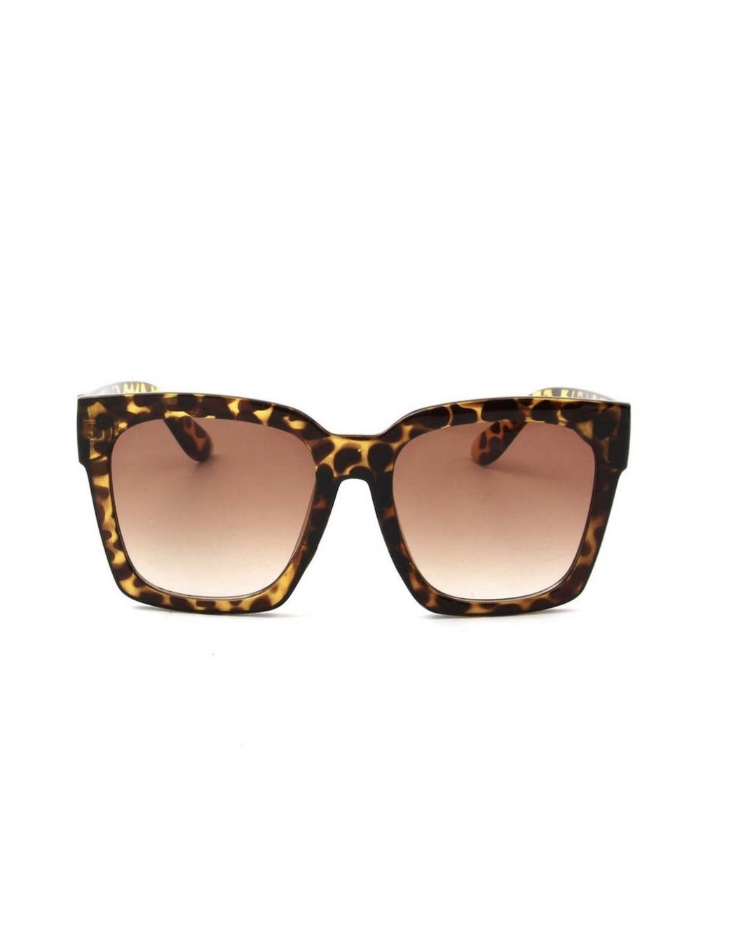 SQUARE OVERSIZED SUNGLASSES TORTOISE