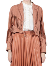 Load image into Gallery viewer, SANDY ROSE FRINGE JACKET