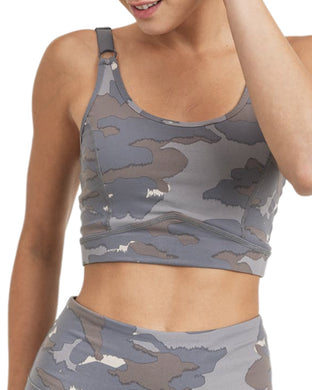 BLUE TUNDRA CAMO PRINT SPORTS BRA
