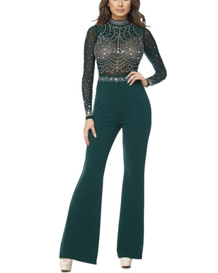EMBELLISHED EMERALD JUMPSUIT