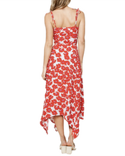 Load image into Gallery viewer, RED + WHITE FLORAL MAXI DRESS