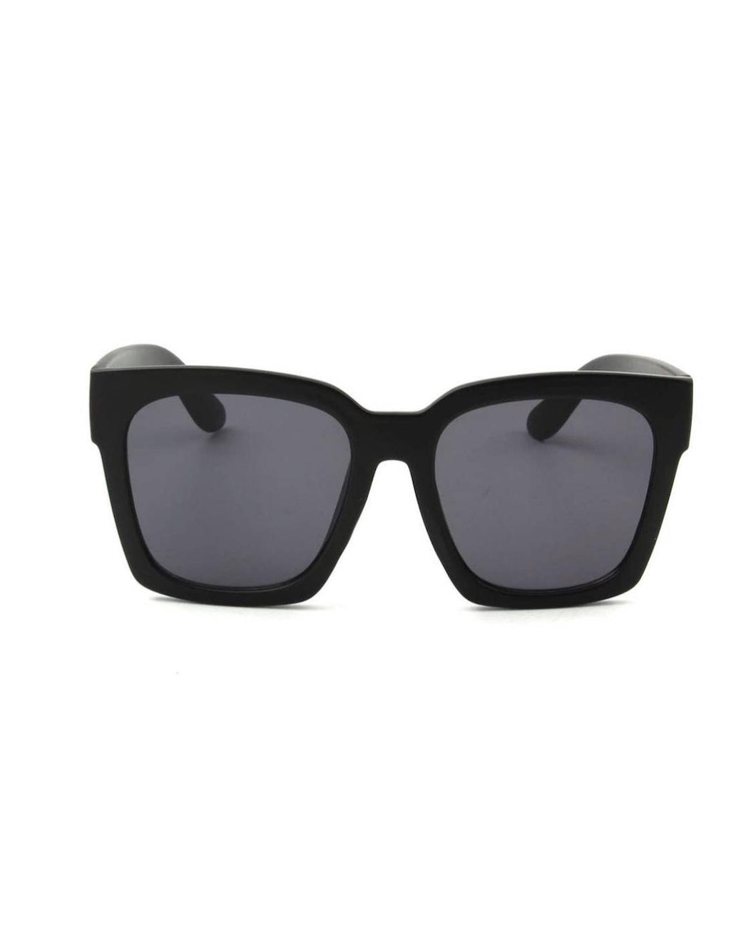 SQUARE OVERSIZED SUNGLASSES MATTE BLACK