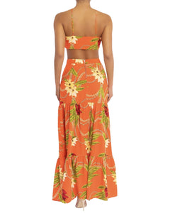 TROPICAL CHAIN MAXI SKIRT