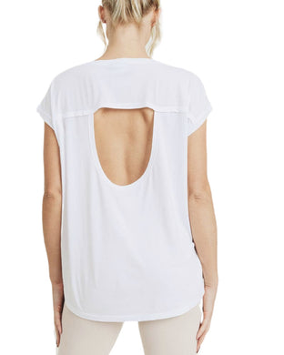 OPEN BACK TEE SHIRT
