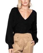 Load image into Gallery viewer, BLACK V NECK SWEATER