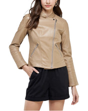 Load image into Gallery viewer, BEIGE RACER JACKET