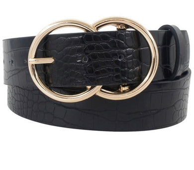 FAUX CROC BELT 3 COLORS