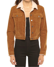 Load image into Gallery viewer, CROPPED CORDUROY JACKET