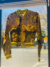Load image into Gallery viewer, Black & Gold Zip Up