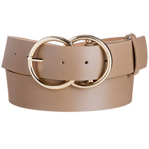 FAUX LEATHER DOUBLE-O BELT