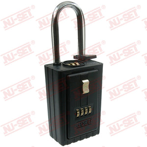 NuSet 4-Number Combination Lockbox, Combo Locking Shackle, Self Scramble