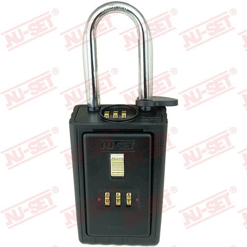 NuSet 3-Alpha Combination Lockbox, Combo Locking Shackle