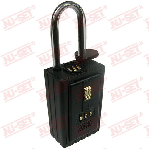 NuSet 3-Alpha Combination Lockbox, Combo Locking Shackle, Self Scramble