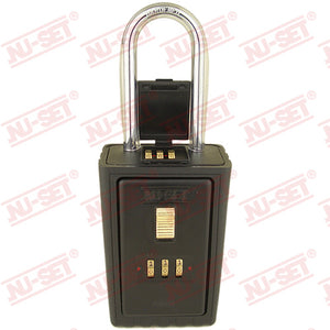 NuSet 3-Number Combination Lockbox, Combo Locking Shackle