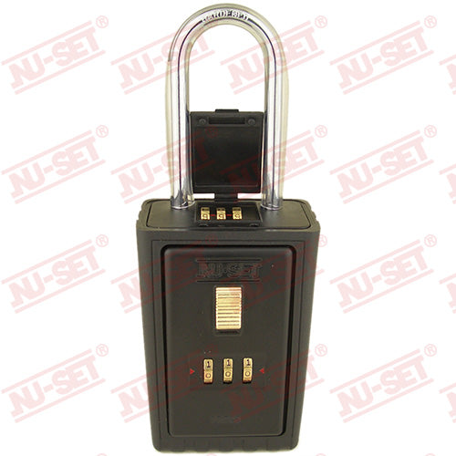 NuSet 4-Alpha Combination Lockbox, Combo Locking Shackle