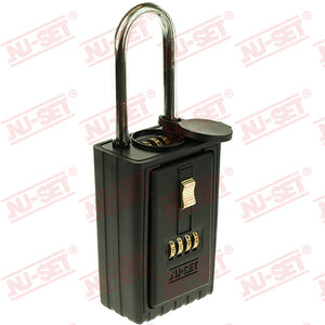 NuSet 4-Alpha Combination Lockbox, Combo Locking Shackle, Self Scramble