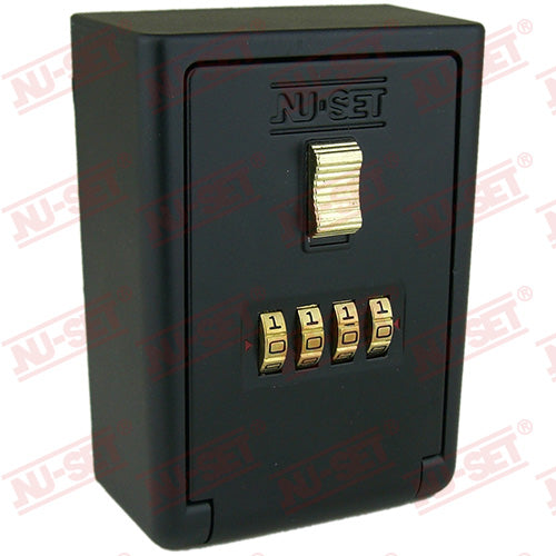 NuSet 4-Number Combination Lockbox, Wall Mount