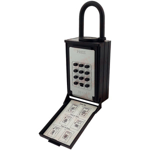 NuSet Push Button Combination Lockbox, Combo Locking Shackle