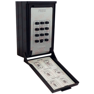 NuSet Push Button Combination Lockbox, Wall Mount