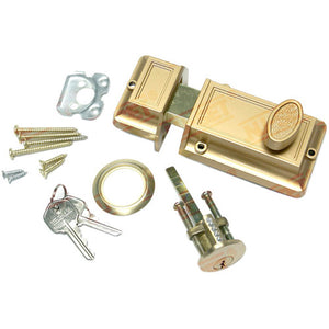NuSet Kwikset Keyed Night Dead Bolt Lock, Bronze
