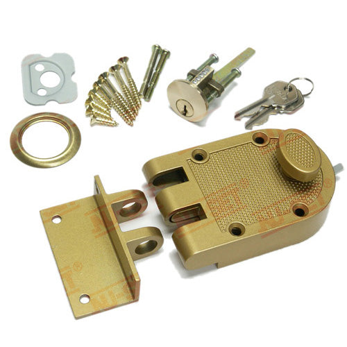 NuSet Kwikset Keyed Interlocking Deadbolt Lock, Jimmy Proof Style, Single Cylinder, Bronze