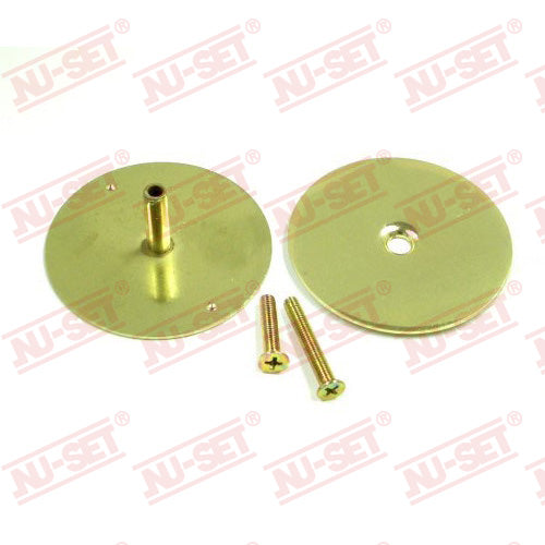 NuSet Door Hole Cover, Brass