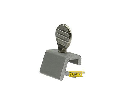 NuSet Sliding Window Lock, Thumbscrew, Aluminum