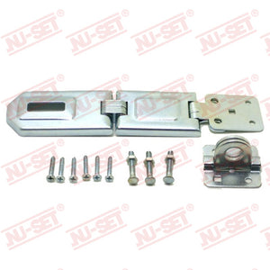"NuSet 6"" Hasp, Single-Hinge, Flexible, Rolled Edge"