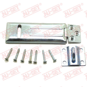 "NuSet 4-1/2"" Hasp, Single-Hinge, Rolled Edge"