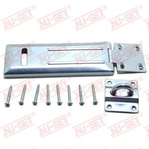 "NuSet 6"" Hasp, Single-Hinge, Rolled Edge"