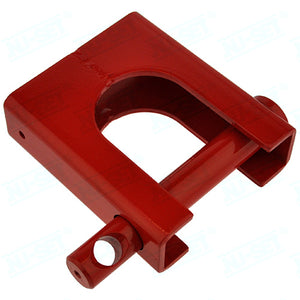 NuSet Heavy Duty 5th Wheel Trailer King Pin Coupler Lock, Red