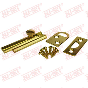 "NuSet 2"" Surface Slide Bolt, Solid Brass"