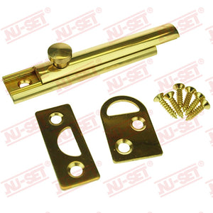 "NuSet 3"" Surface Slide Bolt, Solid Brass"