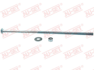 "NuSet 3/8"" x 12"" Carriage Bolt, Zinc"