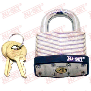 "NuSet 2"" 50mm Keyed Alike A297 Padlock, Laminated Steel"