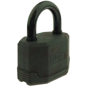 "NuSet 3-1/4"" 83mm Kwikset Keyed Padlock, Laminated Steel, Covered"