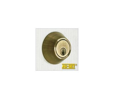 NuSet Kwikset Keyed Double Cylinder Deadbolt (Antique Brass)
